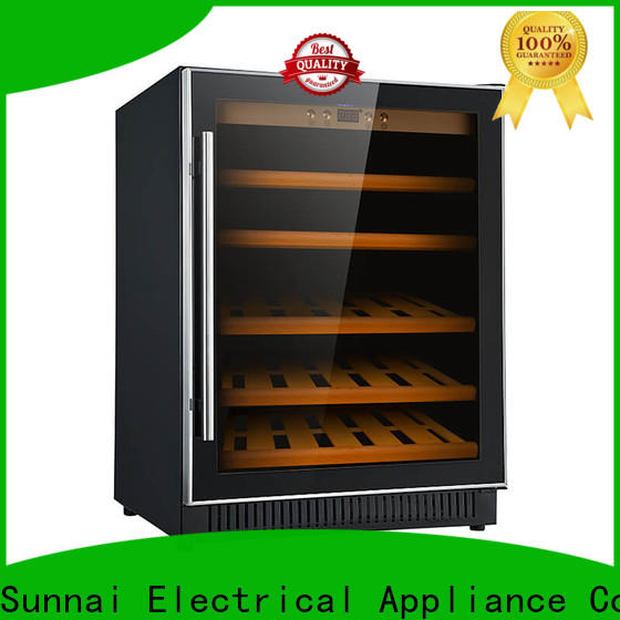 Sunnai double under counter wine fridge cooler for home