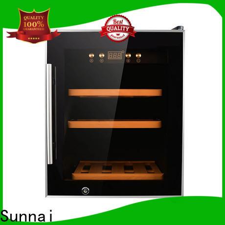 Sunnai single stainless steel door wine cooler wholesale for indoor