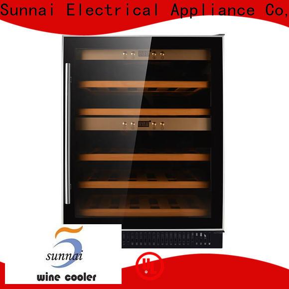 Sunnai black slim undercounter wine cooler manufacturer for shop