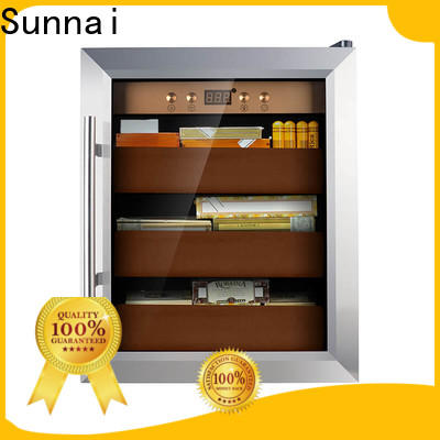 Sunnai sale stainless steel cigar humidor series for work station