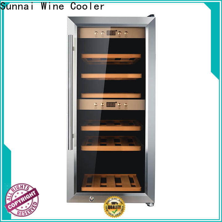 Sunnai professional wooden wine cooler refrigerator series for work station