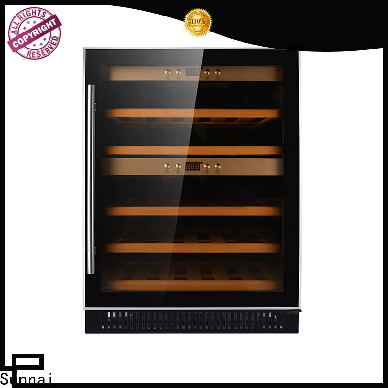 Sunnai undercounter dual zone undercounter wine cooler series for home