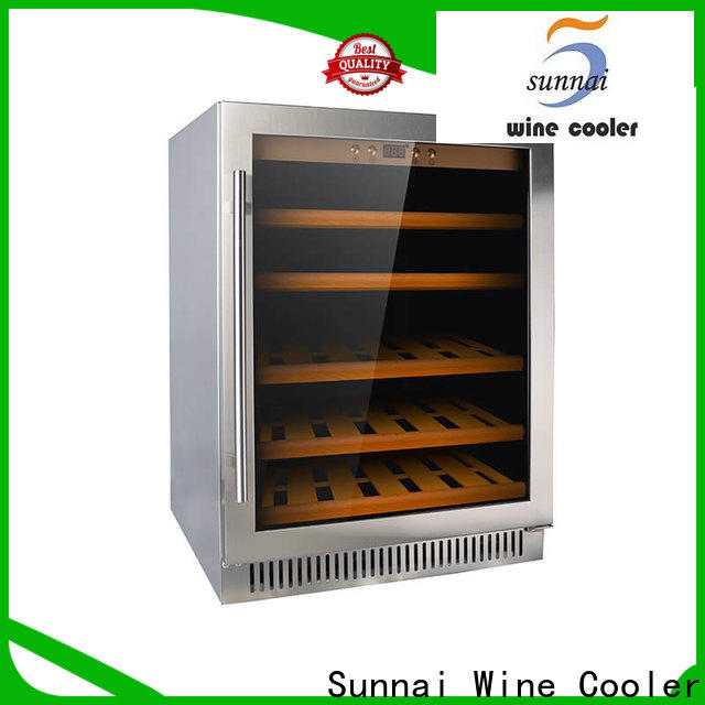 double black stainless steel wine fridge cooler wholesale for work station