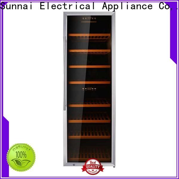 Sunnai online dual zone wine cooler cabinet manufacturer for indoor
