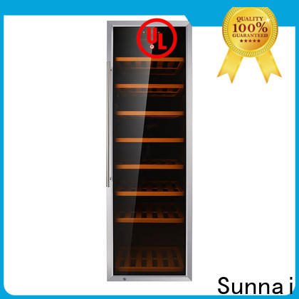 Sunnai black freestanding under counter wine cooler wholesale for shop