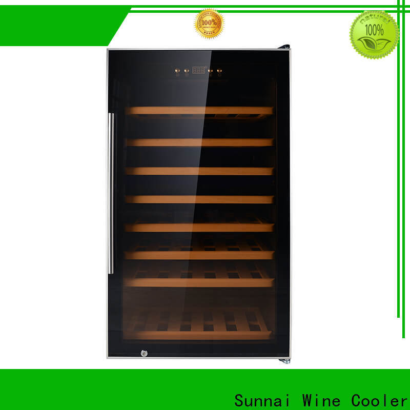 safety tall skinny wine cooler stainless refrigerator for shop