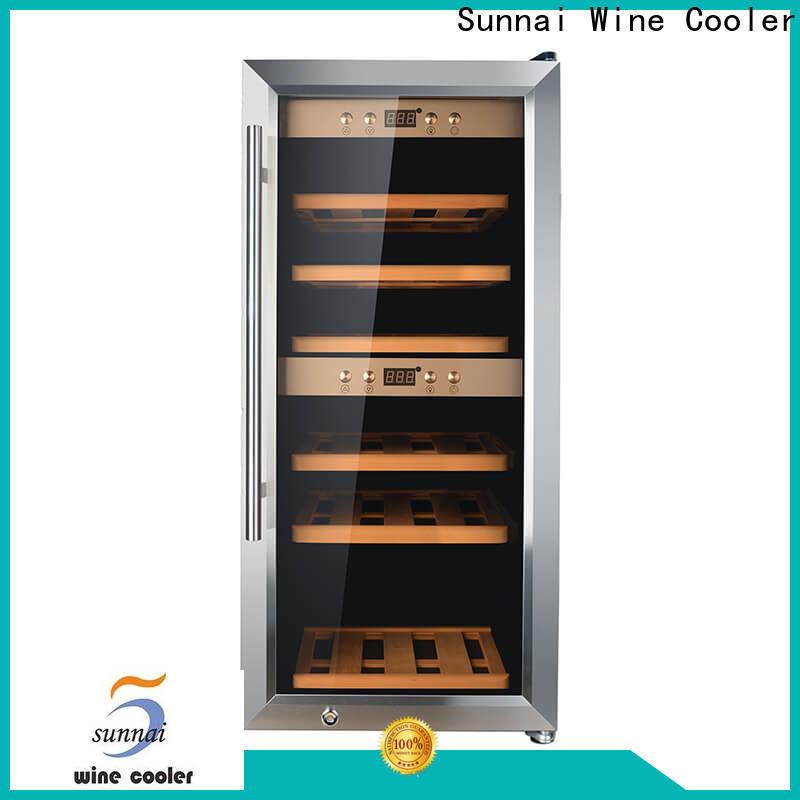 Sunnai dual best price wine fridge product for home
