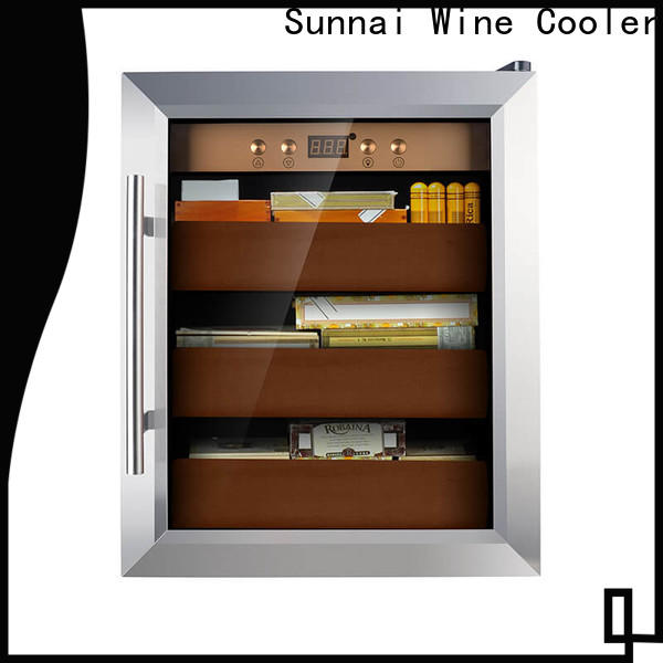 Sunnai online stainless steel cigar humidor product for work station