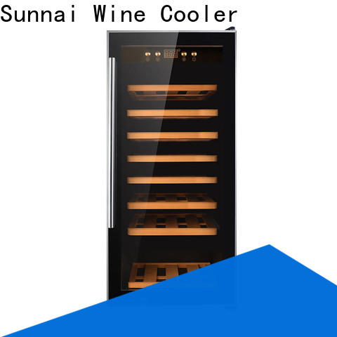 Sunnai black wine cooler 16 inches wide wholesale for shop
