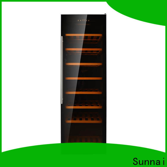 Sunnai size wood wine refrigerator refrigerator for indoor