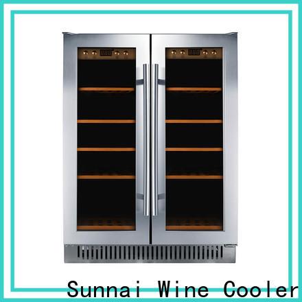 Sunnai black narrow under counter wine fridge compressor for indoor