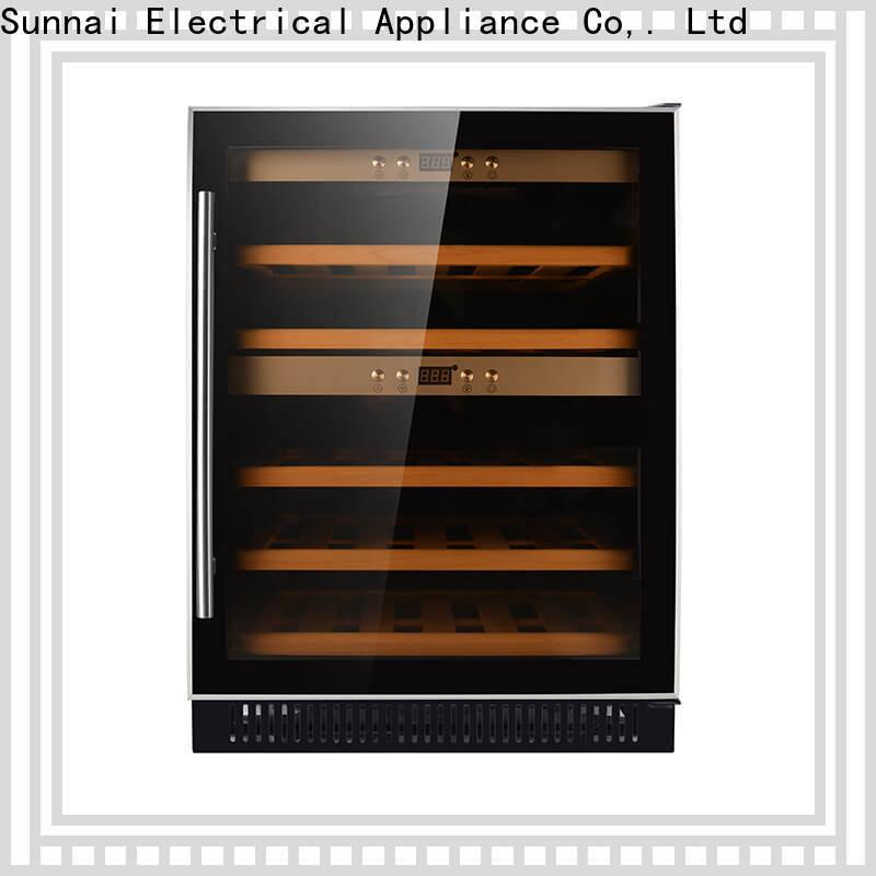 Sunnai double cheap under counter wine cooler manufacturer for shop