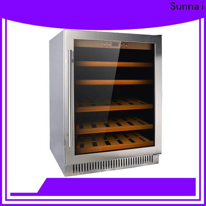 Sunnai double best under counter wine fridge manufacturer for indoor