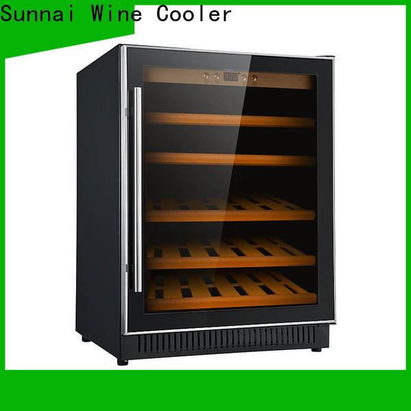 high quality under counter wine fridge black manufacturer for indoor