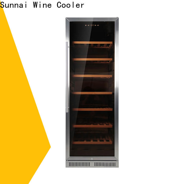 Sunnai compressor double doors wine cooler wholesale for work station