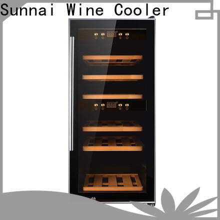 Sunnai smaller dual zone wine cooler product for home