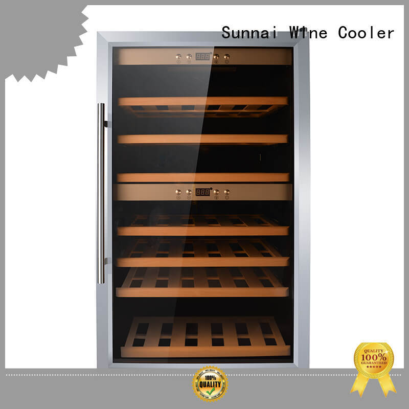 online stainless steel door wine cooler single product for work station