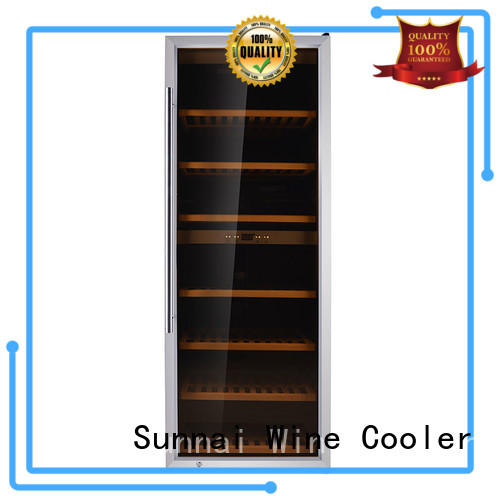Sunnai chiller single zone wine cooler wholesale for indoor