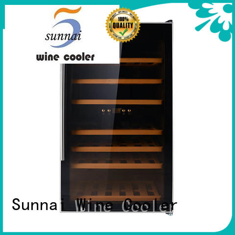 single dual zone wine fridge beech manufacturer for home