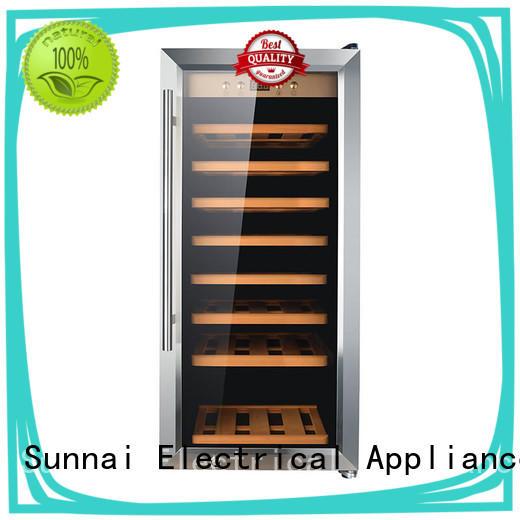 Sunnai double stainless steel door wine cooler bottles home