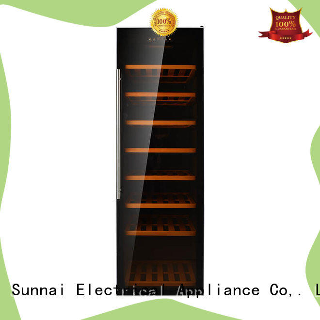 Sunnai black wine cooler refrigerator wholesale for work station