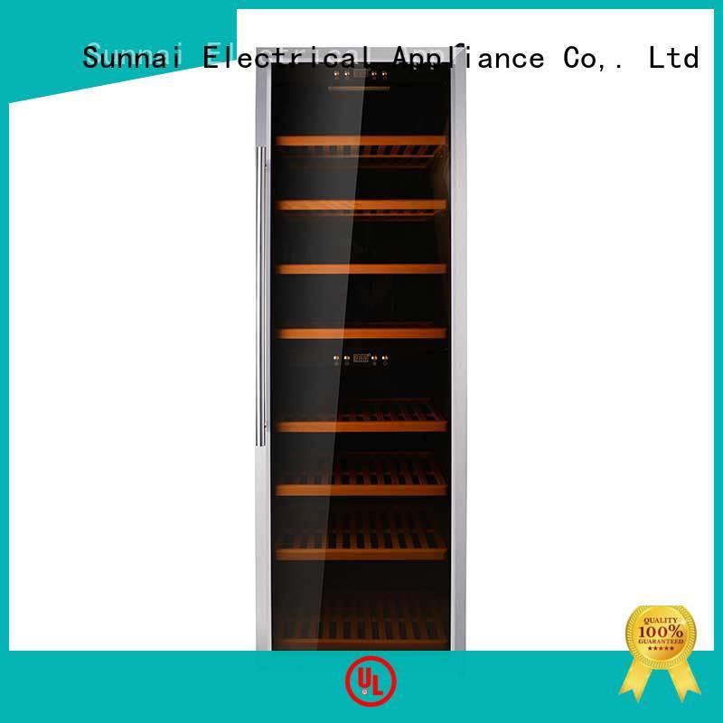 Sunnai black single zone wine cooler refrigerator for work station