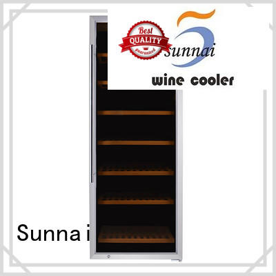 black dual zone wine cooler fridge series for work station