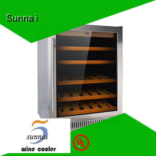 Sunnai high quality under counter wine fridge wholesale for shop