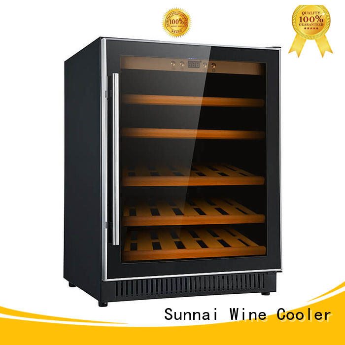 Sunnai safety under counter wine cooler manufacturer for indoor