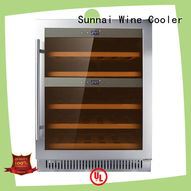double dual zone undercounter wine cooler panel supplier for home