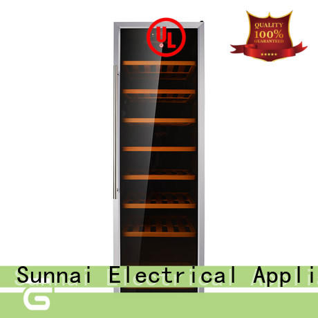 safety dual zone wine fridge wood refrigerator for home