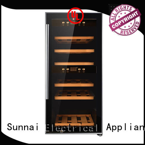 Sunnai single stainless steel door wine cooler wholesale for home