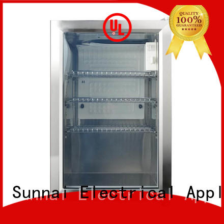 Sunnai professional small beverage fridge cooler for shop