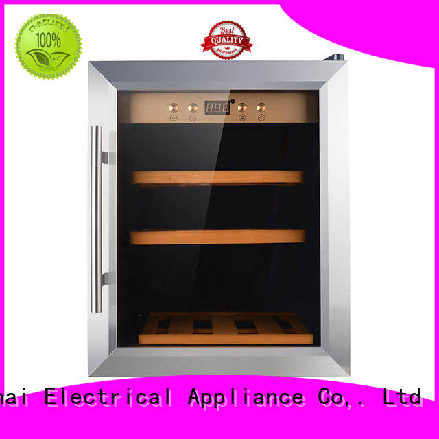 Sunnai black wine cellar fridge product for home
