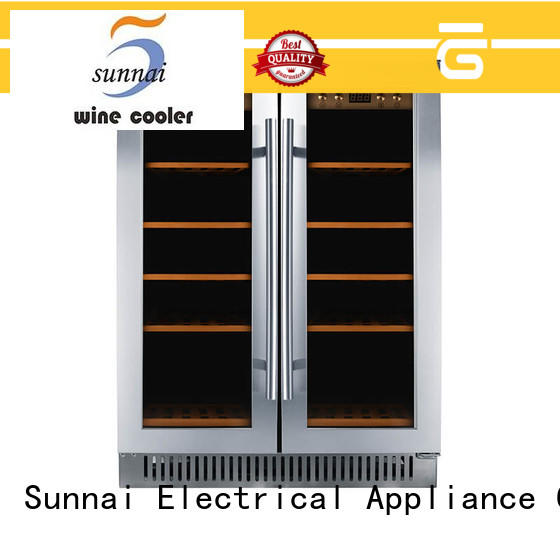 Sunnai double double doors wine cooler wholesale for shop
