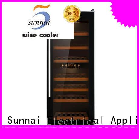 Sunnai single dual zone wine fridge manufacturer for indoor