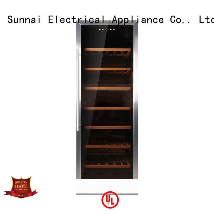Sunnai steel single zone wine fridge series for indoor