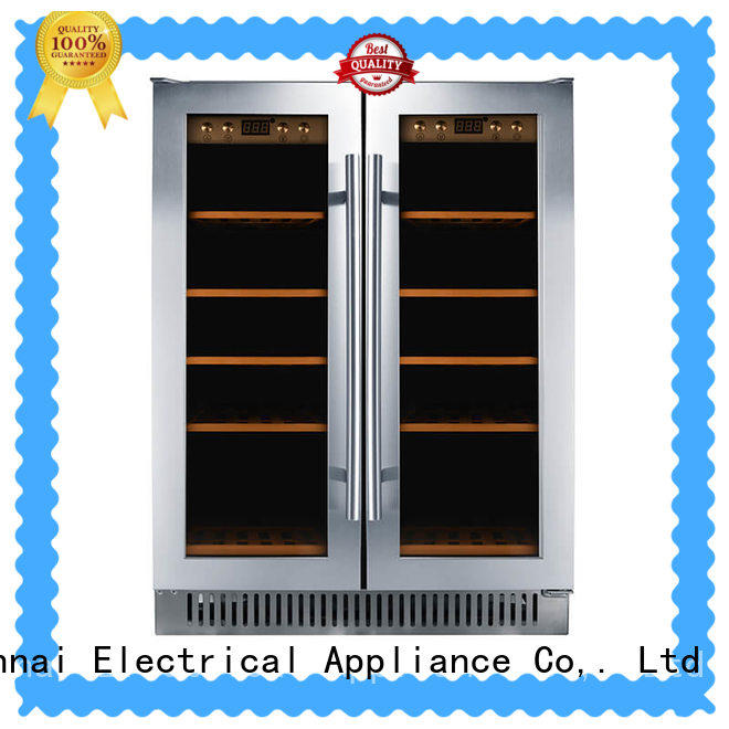 Sunnai double under counter wine refrigerator wholesale for shop