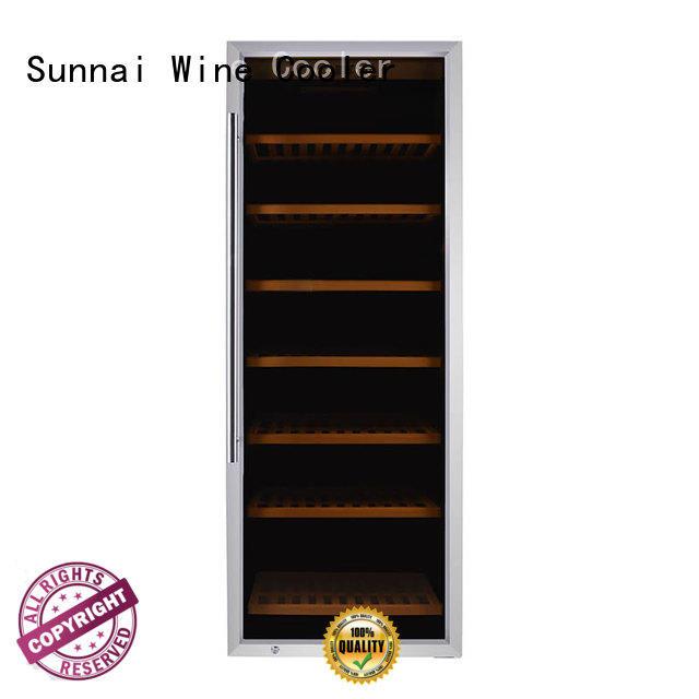 Sunnai black freestanding wine cooler manufacturer for work station