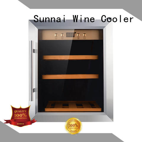 Sunnai high quality stainless steel door wine cooler manufacturer for home