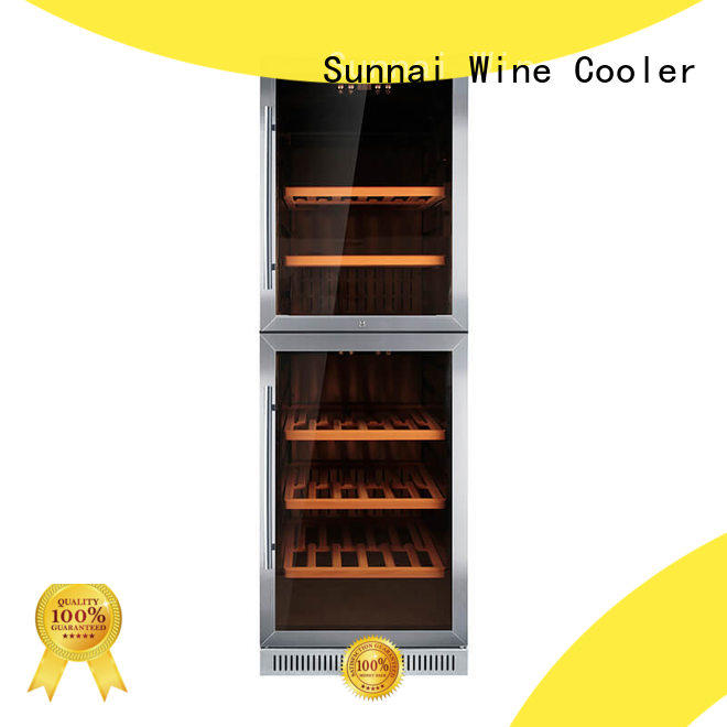 durable under counter dual zone wine fridge dual compressor for home