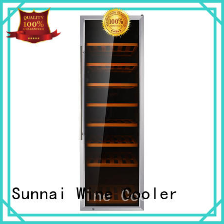Sunnai smaller dual zone wine fridge series for indoor