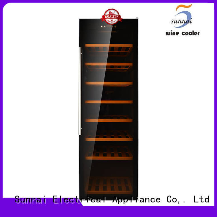 Sunnai panel dual zone freestanding wine cooler wholesale for work station
