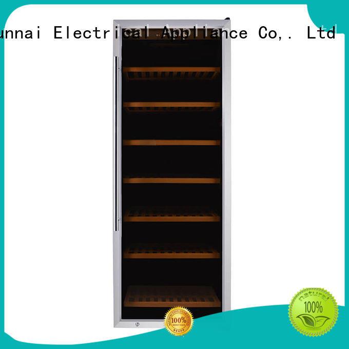 online single zone wine fridge wood supplier for work station