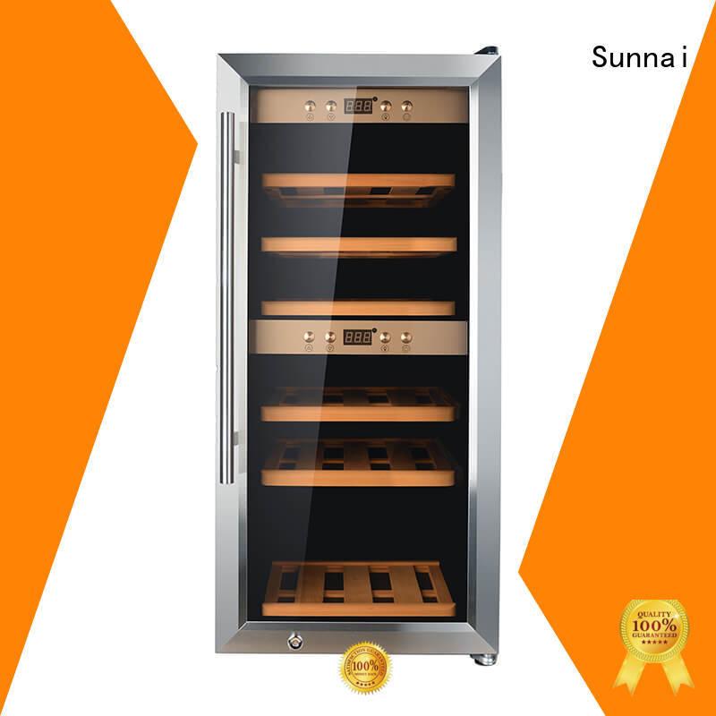 Sunnai wine dual zone wine fridge product for shop