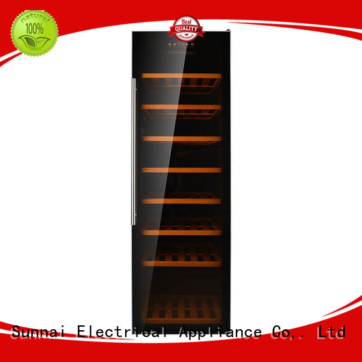 black wine storage fridge shelves manufacturer for home