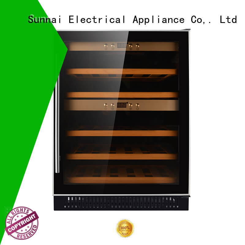 Sunnai single under counter dual zone wine fridge series for work station