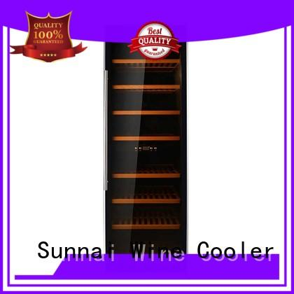 Sunnai wood wine cooler refrigerator product for home