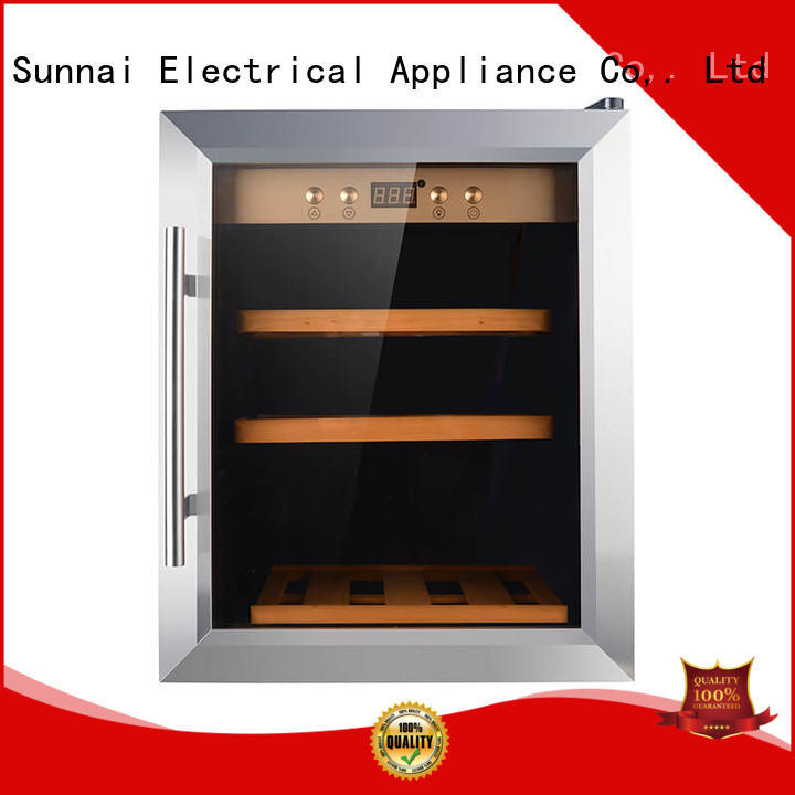 Sunnai safety dual zone wine cooler supplier for home