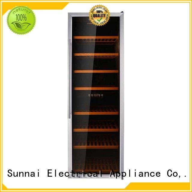 Sunnai fridge dual zone wine cooler product for work station